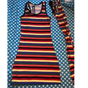 2 multicolor maxi stripped dress